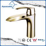 Singolo rubinetto d'ottone della stanza da bagno Polished dell'oro
