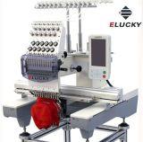 Elucky automatiseerde Machine van het Borduurwerk van 12 of 15 Kleuren de Enige Hoofd voor het Borduurwerk van de Hoed/van het Kledingstuk t-Shirt/Flat
