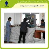 Blanco 850gsm cortinas gran carpa de lona de poliéster Tela Tela revestida de lona de ferrocarril