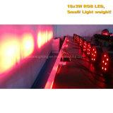 Свет РАВЕНСТВА пластмассы 18X3w RGB СИД плоский