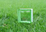 아름다운 녹색 흐린 유리 벽돌 (JINBO)