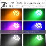 luzes da decoração do contexto do casamento da iluminação do estágio do diodo emissor de luz de 18X12W RGBW