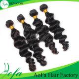 Commerce de gros lâche vierge 100 % d'onde Remy Hair Extension humain