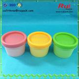 Jarra de cosméticos coloridos de plástico para mascarar