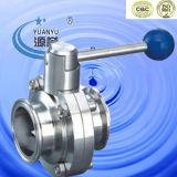 위생 스테인레스 스틸 트라이 - 클램프 엔드와 버터 플라이 밸브 (100120)