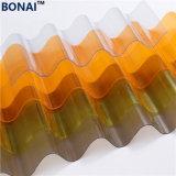 Polycarbonate transparent de tôle ondulée sur PC en plastique de tôle de toit