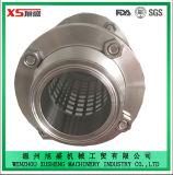 63.5mm Acero Inoxidable AISI304 Sanitation Butt Soldado Vista Vidrio con la red de protección