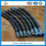 Boyau hydraulique en caoutchouc développé en spirales flexible du logo En856 4sh d'Eebossed