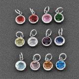 Heiß, 12 Farben Birthstone Kristallcharme für kundenspezifische Schmucksachen verkaufend