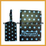 Бумажники держателя крышки случая пасспорта перемещения и сопрягая бирки багажа
