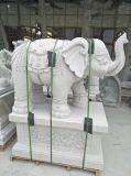 Sculpture animale en pierre en qualité découpant de grandes statues d'éléphant