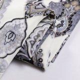 Новая ткань цветка печати Бархатом (FEP018)