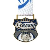 리본을 인쇄하는 열전달을%s 가진 주문 연약한 사기질 메달이 축구에 의하여 게임 큰 메달