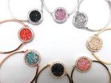 braccialetto placcato oro della Rosa della pietra di Zircon del diamante di colore rosa dei monili di modo per le donne