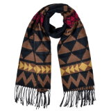 Кашемир 180*70cm женщин реверзибельный как шарф шали зимы теплый связанный сплетенный (SP257)