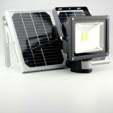 Angeschaltener Flutlicht-Solarscheinwerfer, im Freien wasserdichtes Licht der Sicherheits-18W für Haus, Garten, Rasen, Pool