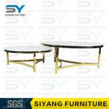 Projeto ajustado da mesa de centro da tabela do ferro da mobília italiana do café