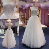 Vestido de casamento nupcial gama alta 2018 do vestido do vestido de esfera da parte superior do laço