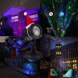 星RGBの静的なクリスマスの庭のシャワーのレーザー光線