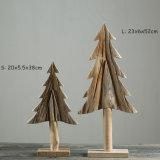 Creatieve Houten Kerstboom 100% het het Met de hand gemaakte Natuurlijke Houten Huis van de Ambacht/Decor van Kerstmis van de Gift van de Vakantie van het Decor van het Bureau/van de Winkel