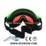Bâti flexible TPU de lentilles de lunettes à double Anti-Fog Snowboard