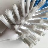 Plato de plástico con mango del cepillo de limpieza