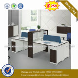 (HX-6M193) Wooden Office Partition 2 Seats Staff Counts Workstation