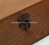 Vendimia de encargo que abisagra los rectángulos de almacenaje de madera del recuerdo de la tapa