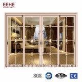 Puertas deslizantes del perfil de Auminium de la fábrica de China con el panel de cristal