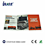 Nueva llegada de 5 pulgadas LCD Video Tarjeta Brochure-Video para Negocios