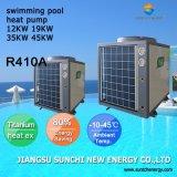 Piscine 25~300mètre cube d'eau de thermostat 32deg. C 12kw/19kw/35kw/70kw Cop4.62 Tube titane Eco énergie de la pompe de piscine