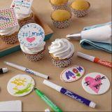 Penna dell'alimento della decorazione dello zucchero - indicatori commestibili dell'inchiostro