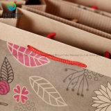Подгоняйте хорошего конструктора Brown Kraft рециркулируя мешок печатание бумажный для упаковывая подарков рождества