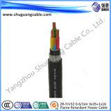 12/20kv XLPE изолировало обшитый PVC толщиной силовой кабель стального провода Armored