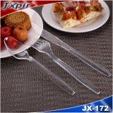 Wegwerftischbesteck-Plastikgabel-Plastikmesserplastid-Löffel (JX172)
