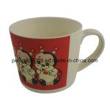손잡이를 가진 최신 판매 자연적인 대나무 섬유 컵 환경 건강한 우유 컵
