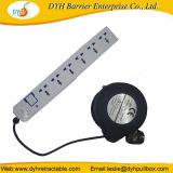 der Energien-220V Stecker-Extensions-Netzkabel Rewinders Draht-einziehbare Bandspule-BRITISCHES Großbritannienpin-Jack
