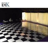 Plancher de danse de blanc et noir pour extérieure ou intérieure partie/mariage