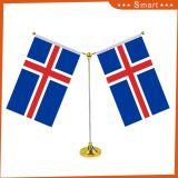 Bandeira diferente da parte superior de tabela do país da mesa do poliéster