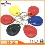 호텔 중요한 꼬리표 Lf Tk4100 T5577 RFID Keyfob 접근 제한