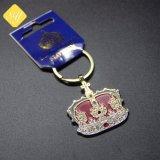 Os fabricantes da China esmalte promocionais personalizadas Chaveiro coroa metálica