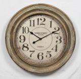 고품질 로마 숫자 앙티크 나무로 되는 시계