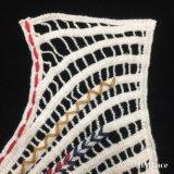 36*23см элегантный хлопка многоцветный шеи воротник кружевной кузова с круглыми кривой линии Pattern тканого леди фрезерование кружевом по пошиву одежды Аксессуары HM2031