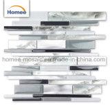 Los patrones de lujo en venta caliente tira de aluminio color gris claro el cuarto de baño mosaicos de vidrio