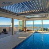 Terrasse de toit en aluminium Pergola de plein air de contrôle à distance