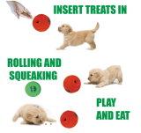 Primicia mundial Launch-Interactive juguetes de perro de sonido y tratar de bola rodante Ball-Orange Dispensing-Squeaking tratar pequeños