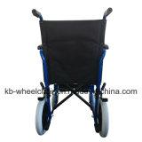 Venta caliente, peso ligero, sillón de ruedas manual de acero