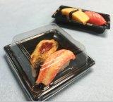 Placa de sushi de plástico descartáveis Caixa Sushi do recipiente com tampa Anti-Fog