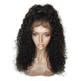 Dlme 형식 꼬부라진 까만 가발 자연적인 가는선 합성 물질 머리