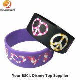 Wristbands poco costosi del silicone di stampa con il marchio di ballo